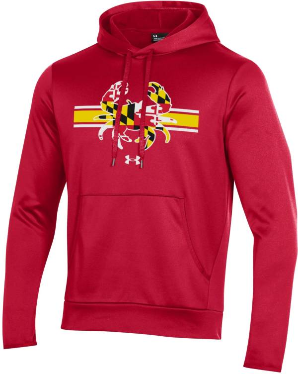 Under Armour Men's Maryland Terrapins Red 'Maryland Pride' Armour Fleece Pullover Hoodie product image