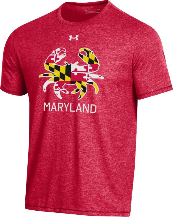 Under Armour Men's Maryland Terrapins Red 'Maryland Pride' Bi-Blend Performance T-Shirt product image