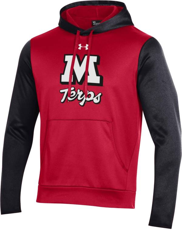 Under Armour Men's Maryland Terrapins Red Armour Fleece Pullover Hoodie product image