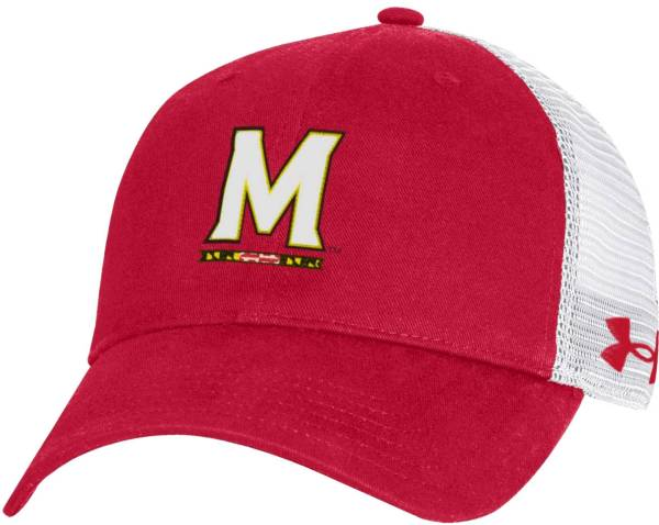 Under Armour Men's Maryland Terrapins Red Washed Adjustable Trucker Hat product image