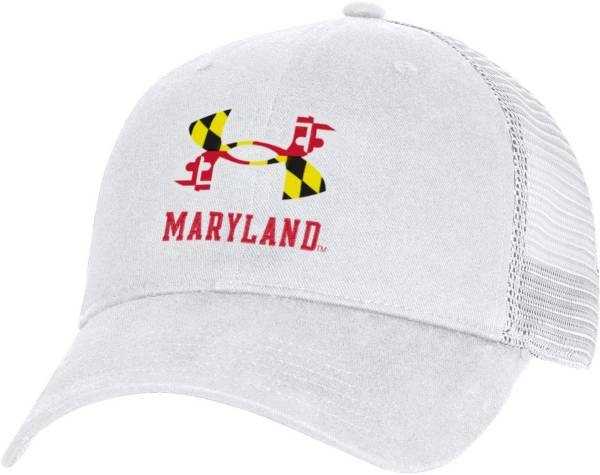 Under Armour Men's Maryland Terrapins White Washed Adjustable Trucker Hat product image