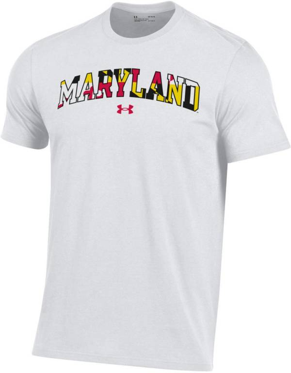 Under Armour Men's Maryland Terrapins White 'Maryland Pride' Performance Cotton T-Shirt product image