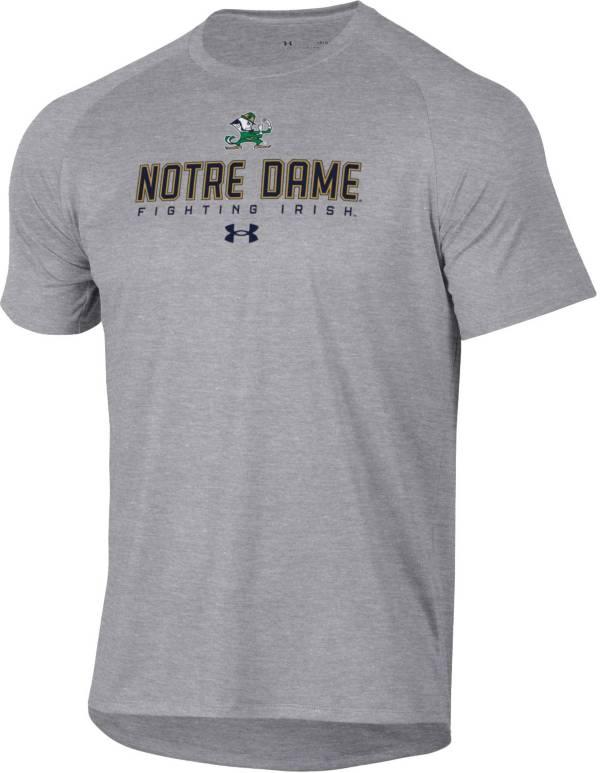 Under Armour Men's Notre Dame Fighting Irish Grey Tech Performance T-Shirt product image