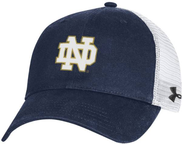 Under Armour Men's Notre Dame Fighting Irish Navy Cotton Adjustable Trucker Hat product image