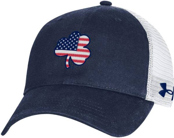Under Armour Men's Notre Dame Fighting Irish Navy Washed Adjustable Trucker Hat product image