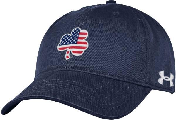 Under Armour Men's Notre Dame Fighting Irish Navy 'USA' Shamrock Adjustable Hat product image