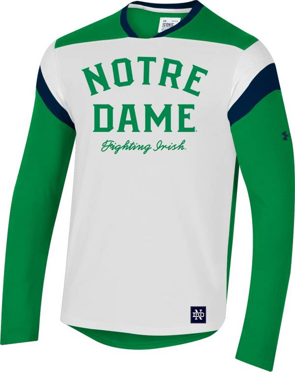 Under Armour Men's Notre Dame Fighting Irish White Iconic Long Sleeve Performance T-Shirt product image