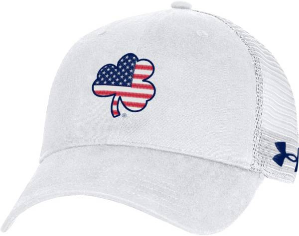 Under Armour Men's Notre Dame Fighting Irish White Washed Adjustable Trucker Hat product image