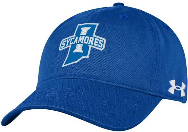 Under Armour Men's Indiana State Sycamores Sycamore Blue Cotton Twill Adjustable Hat product image