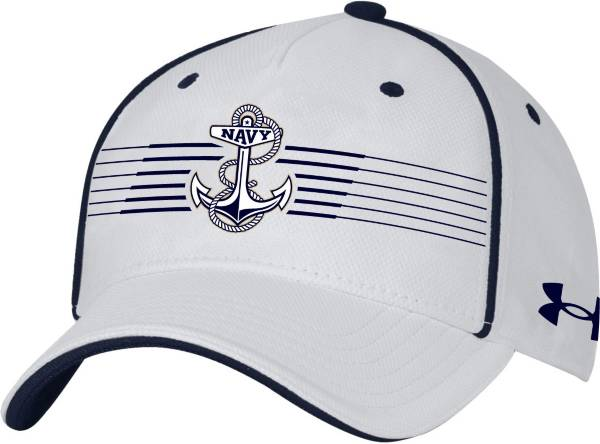 Under Armour Men's Navy Midshipmen White Iso Chill Adjustable Hat product image
