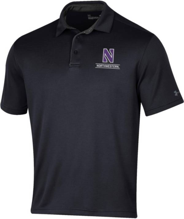 Under Armour Men's Northwestern Wildcats Black Tech Polo product image