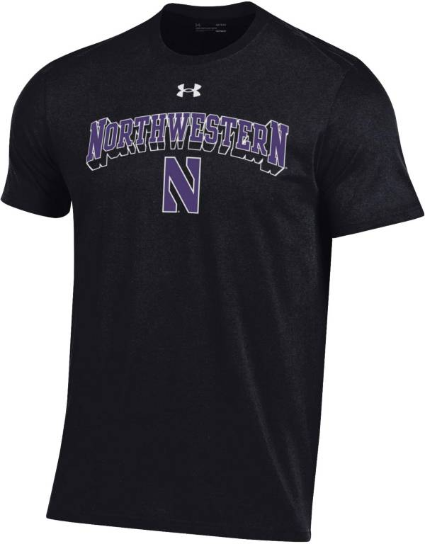 Under Armour Men's Northwestern Wildcats Black Performance Cotton T-Shirt product image