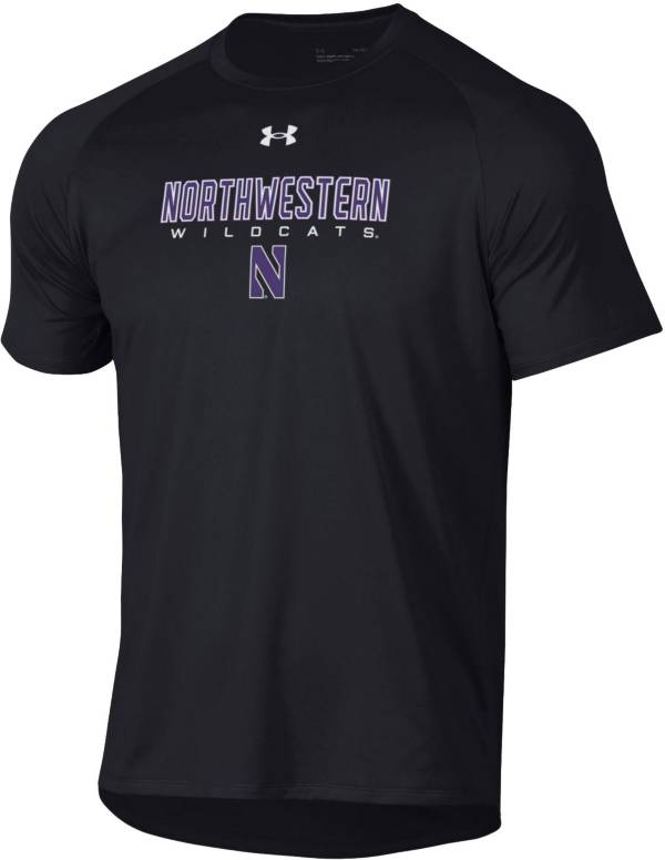 Under Armour Men's Northwestern Wildcats Black Tech Performance T-Shirt product image
