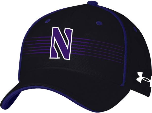 Under Armour Men's Northwestern Wildcats Black Iso Chill Adjustable Hat product image