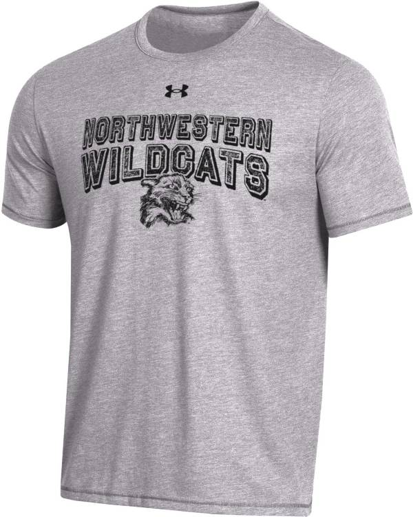 Under Armour Men's Northwestern Wildcats Grey Bi-Blend Performance T-Shirt product image