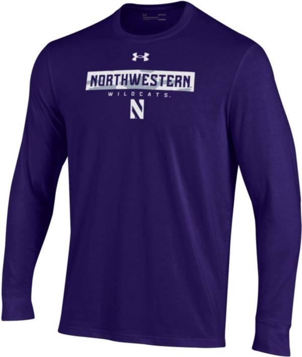 Under Armour Men's Northwestern Wildcats Purple Performance Cotton Long Sleeve T-Shirt product image