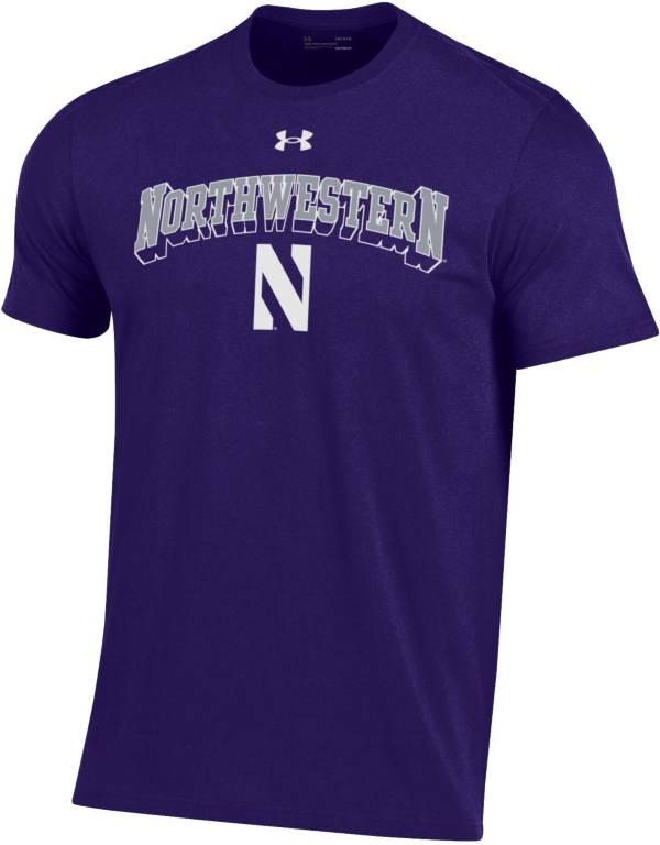 Under Armour Men's Northwestern Wildcats Purple Performance Cotton T-Shirt product image