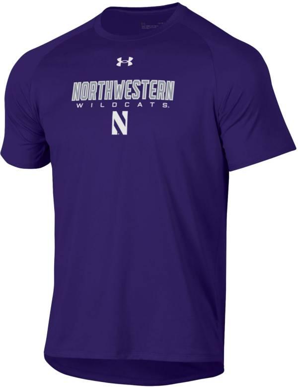 Under Armour Men's Northwestern Wildcats Purple Tech Performance T-Shirt product image