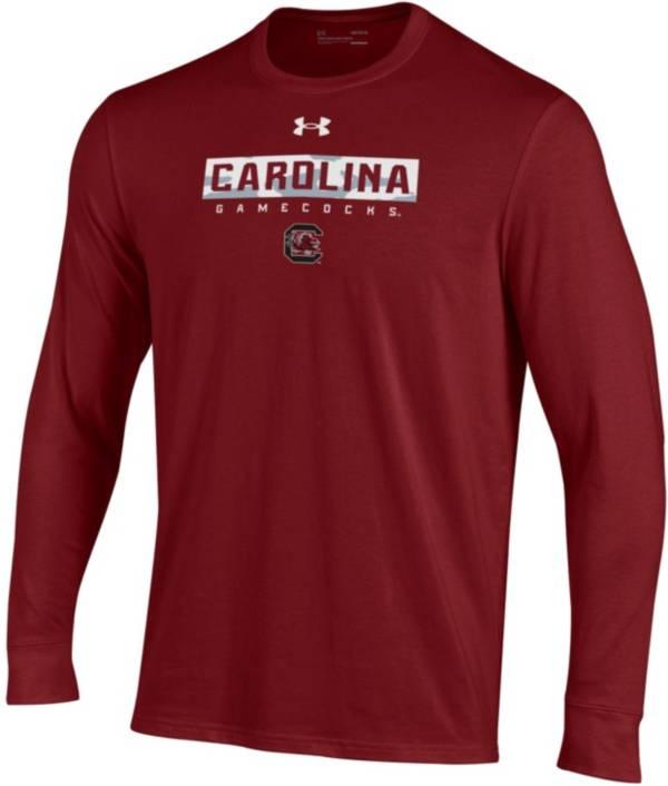 Under Armour Men's South Carolina Gamecocks Garnet Performance Cotton Long Sleeve T-Shirt product image