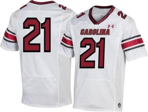 Under Armour Men's South Carolina Gamecocks #21 White Replica Football Jersey product image