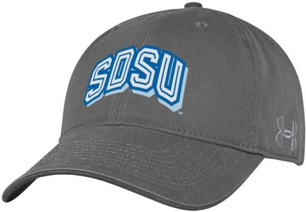 Under Armour Men's South Dakota State Jackrabbits Grey Cotton Twill Adjustable Hat product image