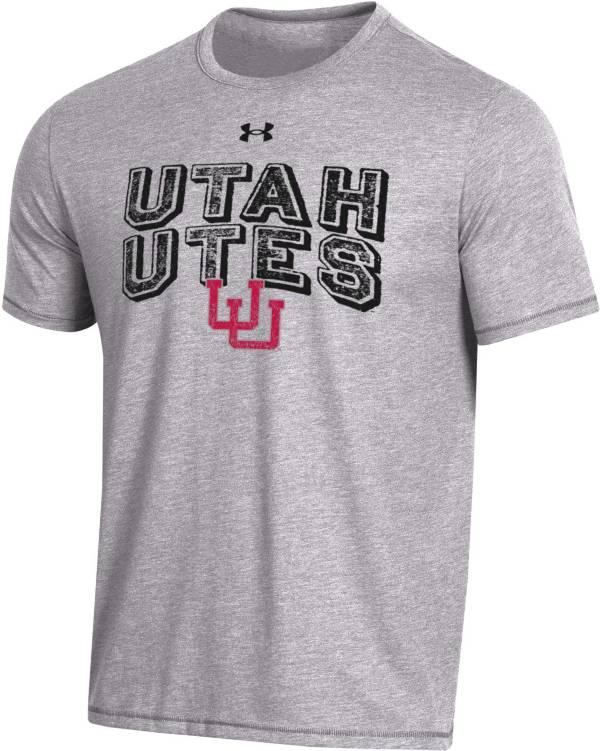 Under Armour Men's Utah Utes Grey Bi-Blend Performance T-Shirt product image