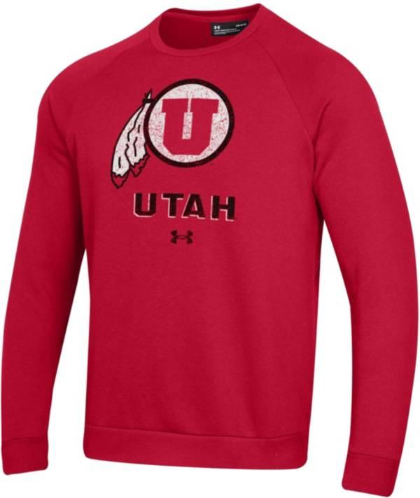 Under Armour Men's Utah Utes Crimson All Day Fleece Crew Sweatshirt product image