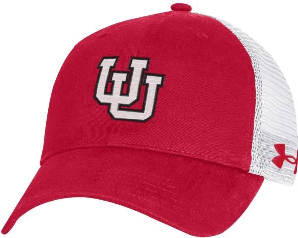 Under Armour Men's Utah Utes Crimson Washed Adjustable Trucker Hat product image