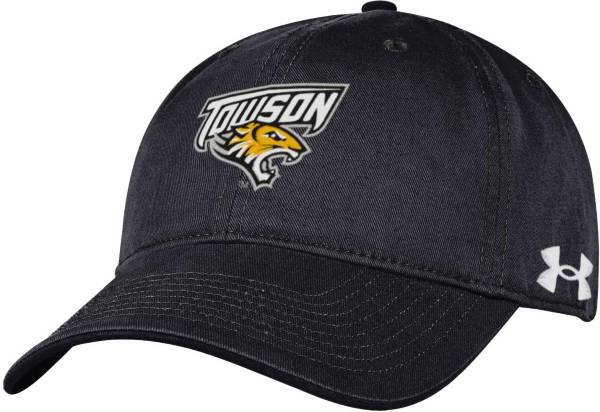 Under Armour Men's Towson Tigers Black Cotton Twill Adjustable Hat product image