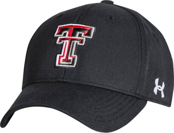 Under Armour Men's Texas Tech Red Raiders Black Adjustable Hat product image