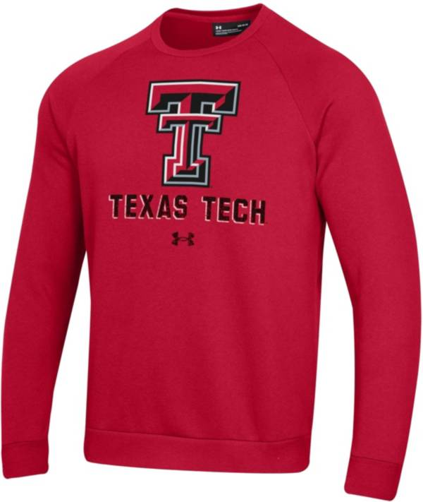 Under Armour Men's Texas Tech Red Raiders Red All Day Fleece Crew Sweatshirt product image