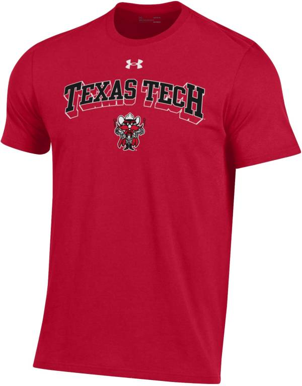 Under Armour Men's Texas Tech Red Raiders Red Performance Cotton T-Shirt product image