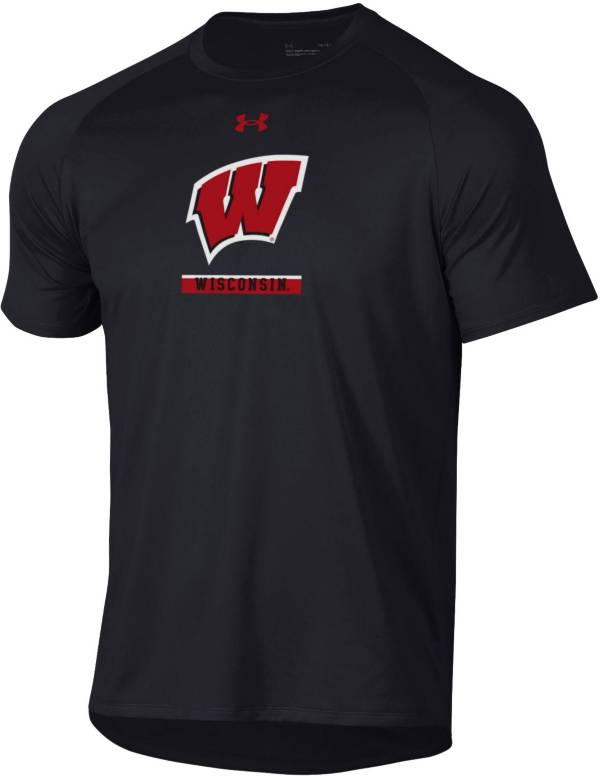 Under Armour Men's Wisconsin Badgers Black Tech Performance T-Shirt product image