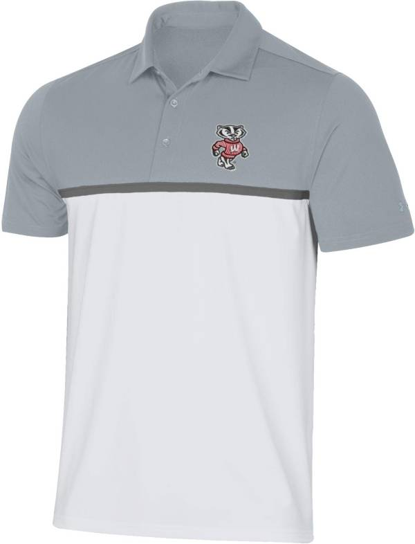 Under Armour Men's Wisconsin Badgers Grey Gameday Polo product image