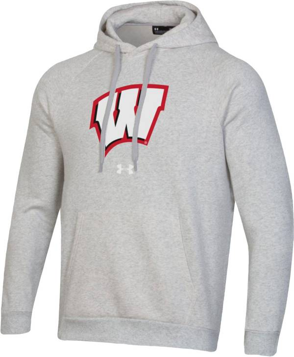 Under Armour Men's Wisconsin Badgers Grey All Day Hoodie product image