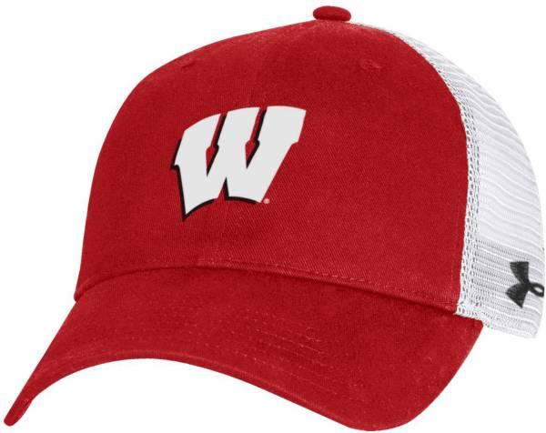 Under Armour Men's Wisconsin Badgers Red Cotton Adjustable Trucker Hat product image