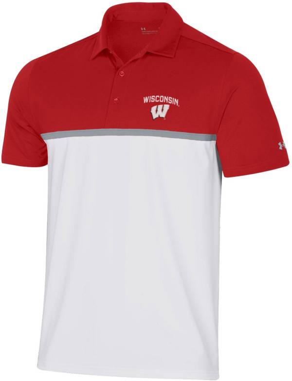 Under Armour Men's Wisconsin Badgers Red Gameday Polo product image