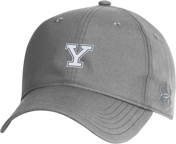Under Armour Men's Yale Bulldogs Grey Performance 2.0 Adjustable Hat product image