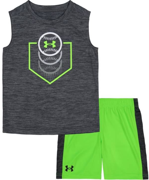 Under Armour Little Boys' Home Plate Baseball Tank Top and Shorts Set product image
