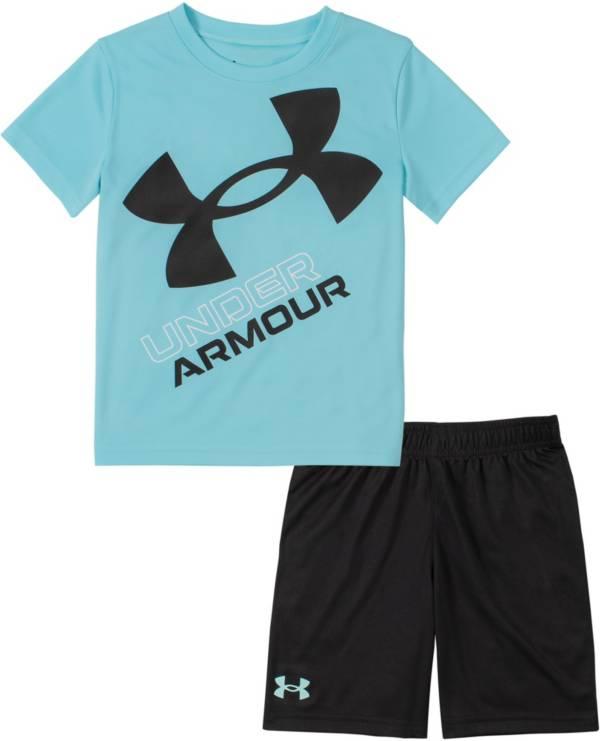 Under Armour Little Boys' Slanted Big Logo T-Shirt and Shorts Set product image