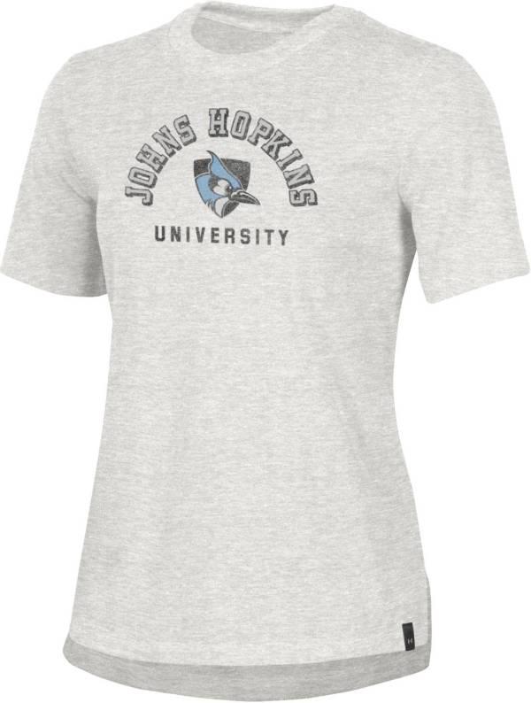 Under Armour Women's Johns Hopkins Blue Jays Grey Performance Cotton T-Shirt product image