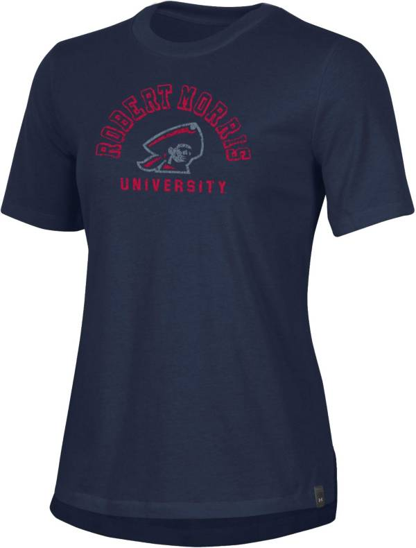 Under Armour Women's Robert Morris Colonials Navy Blue Performance Cotton T-Shirt product image