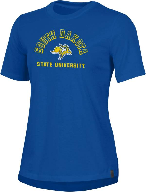 Under Armour Women's South Dakota State Jackrabbits Blue Performance Cotton T-Shirt product image