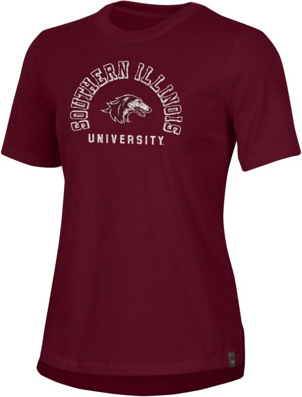 Under Armour Women's Southern Illinois  Salukis Maroon Performance Cotton T-Shirt product image