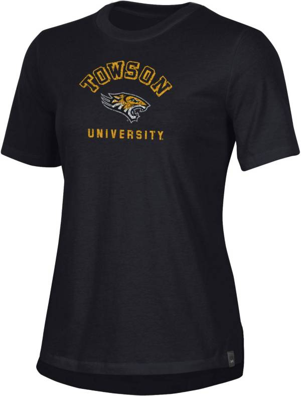 Under Armour Women's Towson Tigers Black Performance Cotton T-Shirt product image