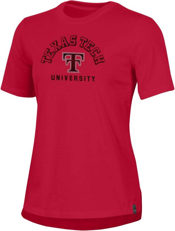 Under Armour Women's Texas Tech Red Raiders Red Performance Cotton T-Shirt product image