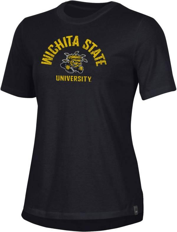 Under Armour Women's Wichita State Shockers Black Performance Cotton T-Shirt product image