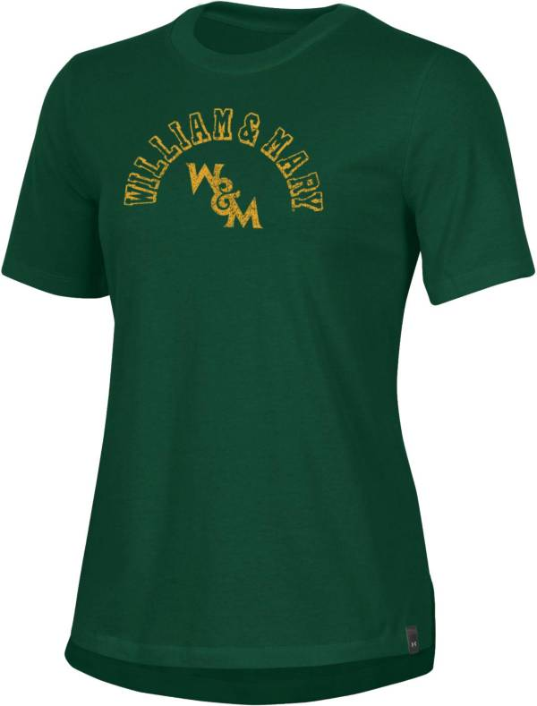 Under Armour Women's William & Mary Tribe Green Performance Cotton T-Shirt product image
