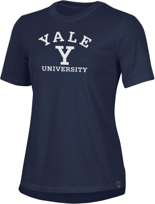 Under Armour Women's Yale Bulldogs Yale Blue Performance Cotton T-Shirt product image