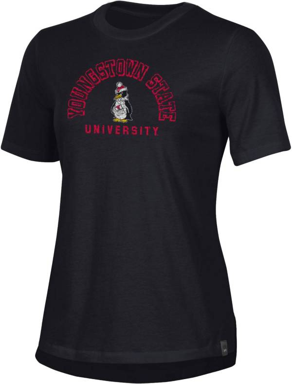 Under Armour Women's Youngstown State Penguins Black Performance Cotton T-Shirt product image